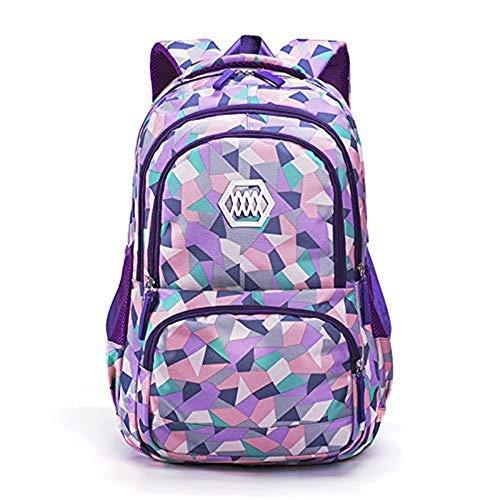 Adanina Geometric Prints Primary School Student Satchel Backpack Boys Book Bag School Bag for ()