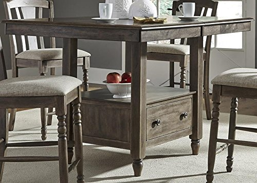 Candlewood Gathering Table in Weather Gray