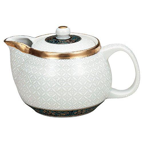 Kutani Yaki(ware) Japanese Teapot Shippou (with tea strainer)