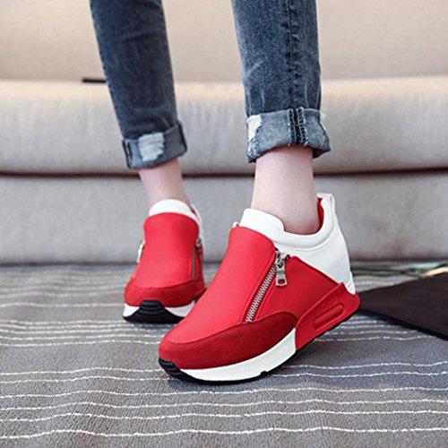Lavoro Rosso Running Eleganti Sneakers Ginnastica Da Scarpe Donna Sportive Corsa Stringate Beautyjourney Estive wTUWqaz7