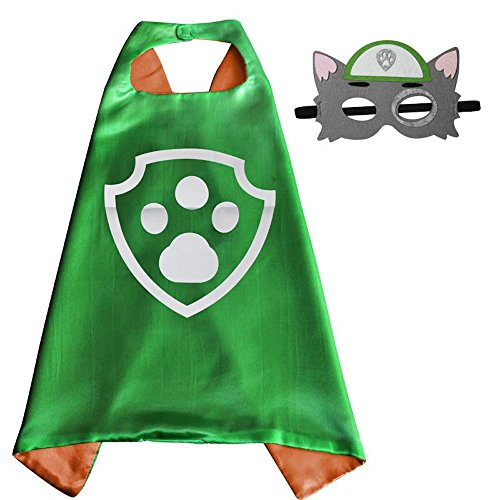 Over 35+ Styles Superhero Halloween Party Cape and Mask Set for Kids (Rocky) (Adult Book Character Costumes)