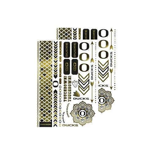 NCAA Oregon Ducks Metallic Body Jewelry Stickers ()
