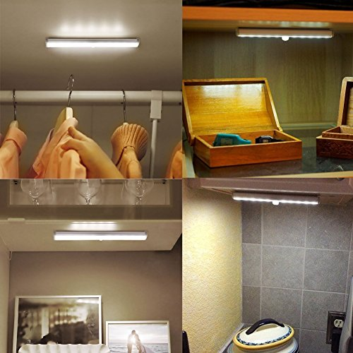 Kitchen Closet Under Cabinet Stick On 36 Led Motion Sensor: Albrillo Closet Light Motion Sensing Wireless Under