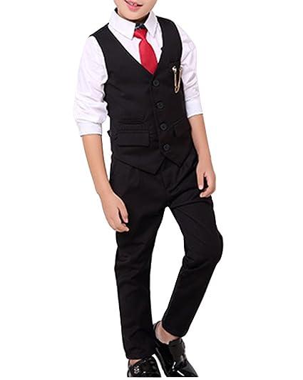 Niño Linda Casual Moda Formal Chaleco Traje Y Pantalones Set ...