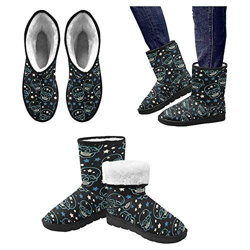 Botas De Nieve Para Mujer Interestprint Botas De Invierno Con Diseño Único Comfort Multi 29
