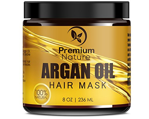 Price comparison product image Argan Oil Hair Mask Deep Conditioner - 8 oz Leave In Conditioner Sulfate Free - Damaged & Dry Hair Repair & Growth All Natural - Hydrates Softens Strengthens Premium Nature