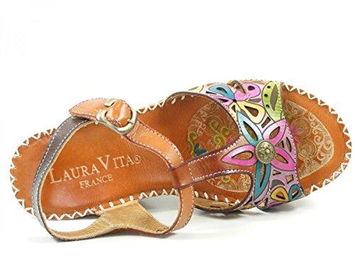 Laura Vita LMD1645-25 Balade 25 Sandalias fashion de cuero mujer Braun