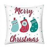 Pgojuni Fresh Style Pillowcase Merry Christmas Pillow Case Polyester Sofa Car Cushion Cover Home Decor Cover Pillow Case1pc (45cm X 45cm) (F)