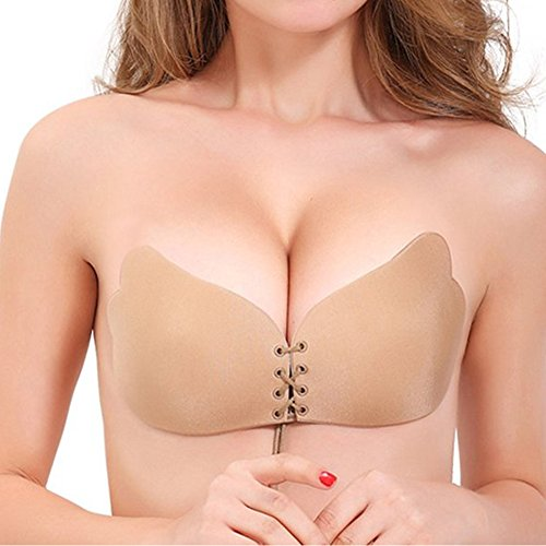 WONDER BEAUTY Womens Strapless Adhesive Invisible