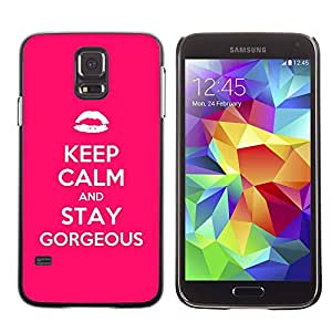 A-type Arte & diseño plástico duro Fundas Cover Cubre Hard Case Cover para Samsung Galaxy S5 (Calm Kiss Fashion Quote Motivational)