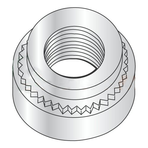 Carton: 7,000 pcs 1.4 mm M3-0.5-2 Self Clinching Nuts//Steel//Zinc//Shank Height 1.38 mm//Minimum Sheet Thickness