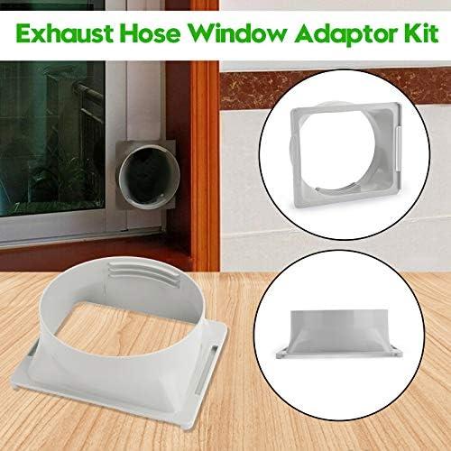 Topteng Abluftschlauch Fenster Adapter für bewegliche Klimaanlage Rohr Oblong-Anschluss
