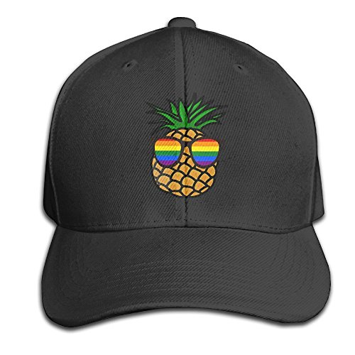 Urnieape Gay Pride Pineapple Adjustable Baseball Caps Unstructured Dad Hat  100% Cotton Black 2f63641d85d5