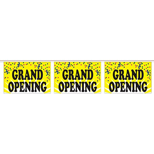 Grand Opening String Pennants (60 ft. String w/ 20 18 x 12 in. (Panel Pennants)