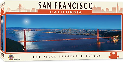 MasterPieces Cityscapes Panoramic Jigsaw Puzzle, San Francisco, California, Golden Gate Bridge, Photographs by James Blakeway, 1000 Pieces
