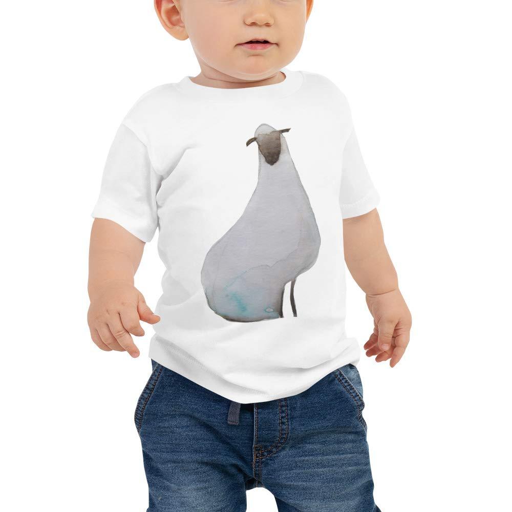 Animals Cute Little Sheep Unisex Toddler Cotton Tee Shirt Baby Short Sleeve Tee