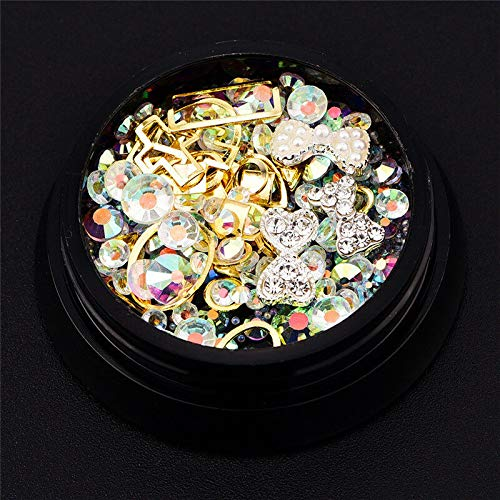 (3D Nail Art Rhinestones Mix Glitters Coloful Acrylic Manicure Tips Stickers DIY (Color - #2))