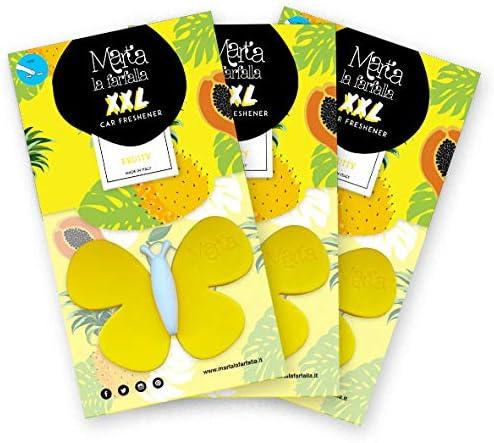 Fra Ber Lufterfrischer Für Auto Und Raum Xxl Format Für Intensiveren Duft Fruity Gelb 3 Stück Auto