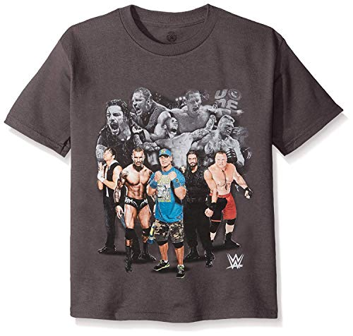 WWE Little Boys' Champ T-Shirt Shirt, Charcoal, Small - 4
