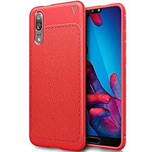 Huawei P20 case, Scratch-resistant Soft TPU Case Cover for Huawei P20 5.8 inch, Red