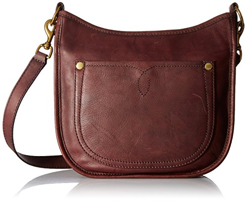 FRYE Campus Rivet Crossbody, Black Cherry by FRYE