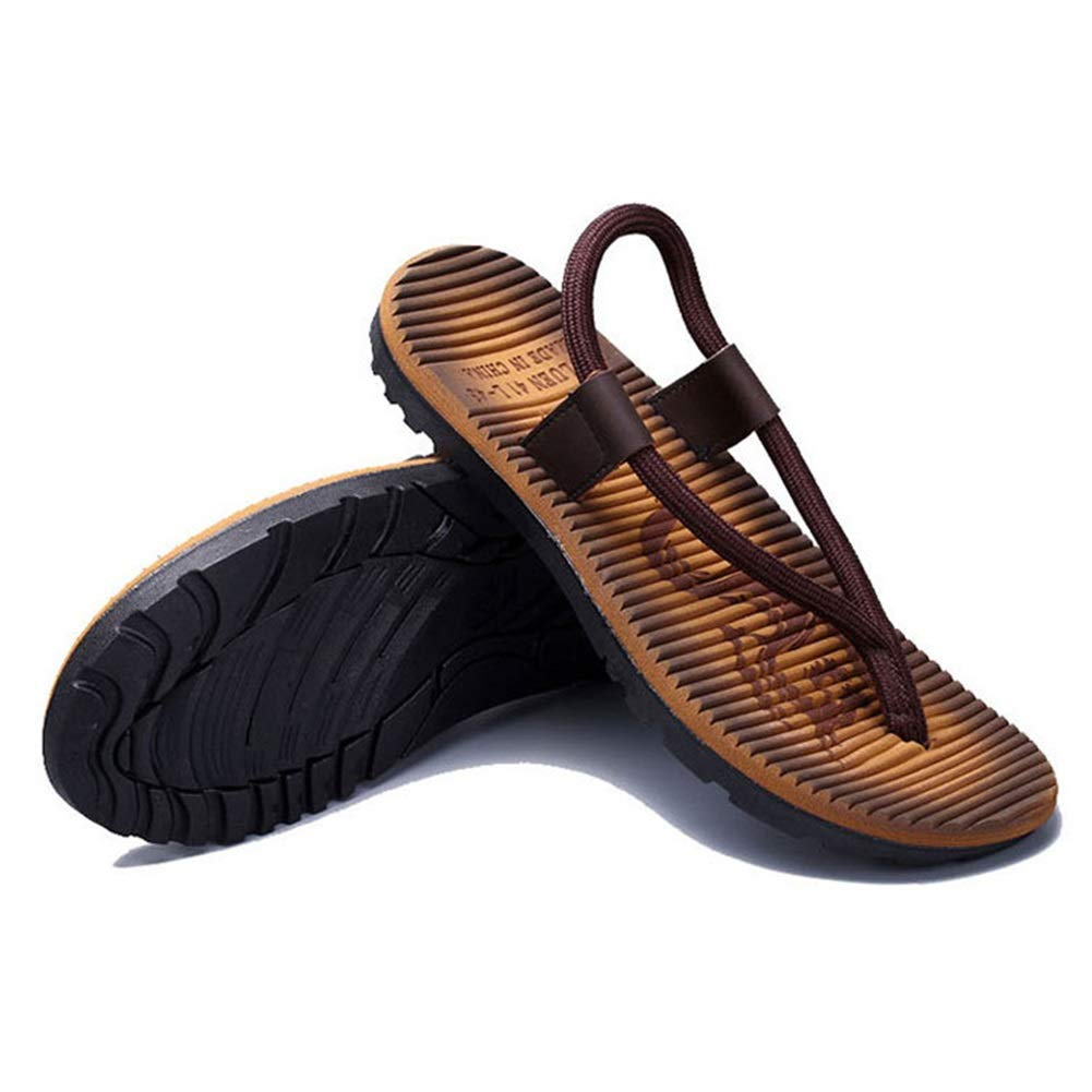 Tingting Slipper Male Summer Beach Home Leisure Wave Upper Non-Slip Color : Red, Size : 44