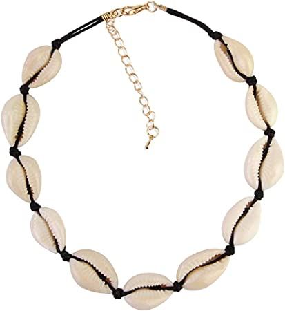 Bohemian Beach Sea Cowrie Shell Pendant Chain Choker Necklace Women Jewelry Gift