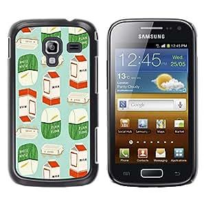 FECELL CITY // Duro Aluminio Pegatina PC Caso decorativo Funda Carcasa de Protección para Samsung Galaxy Ace 2 I8160 Ace II X S7560M // Modern Art Packaging Marketing