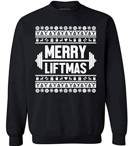 2dc4b2a021 Awkward Styles Merry Liftmas Sweatshirt Merry Christmas Sweater Ugly  Christmas Sweatshirt Black S