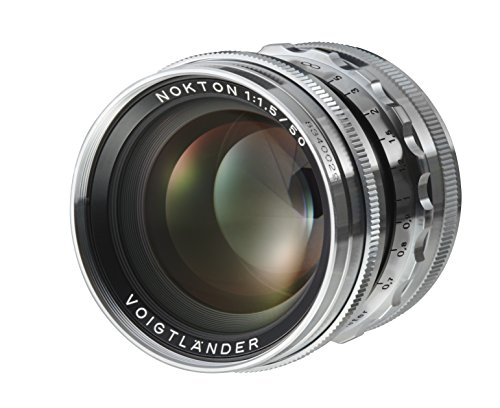 Voigtlander Nokton 50Mm F 1 5 Aspherical Standard Manual Focus Lens   Silver
