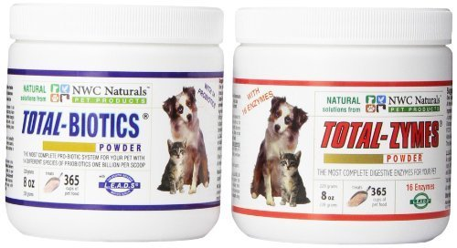 Original Total-digestion Twin Pack One Total-biotics One Total-zymes 228gm Each by NWC Naturals Inc.