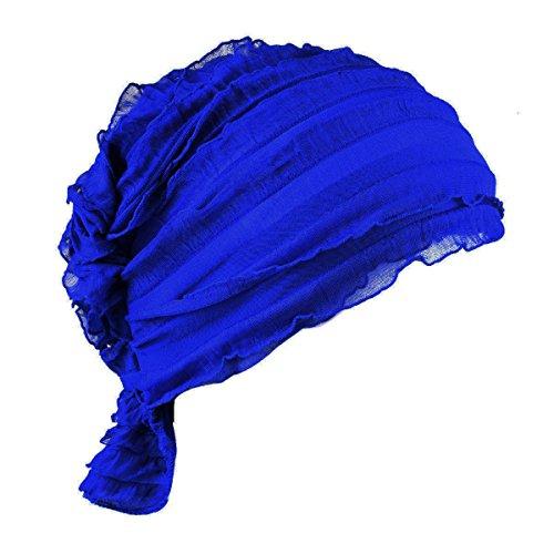 76cd66356e5 Timol Women Chemo Beanie Scarf Hat Covering Snood Turban Headwear For  Cancer (Royalblue)