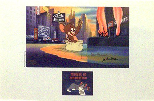 """Tom and Jerrry in """"Mouse in Manhattan"""" New York City theme Ltd Print Matted from MGM, TOM AND JERRY"""