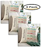 Pack of 3 - Personalized Fun Family History Pillow