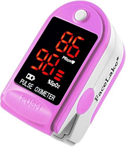 Facelake FL-400 Pink Pulse Oximeter by Facelake