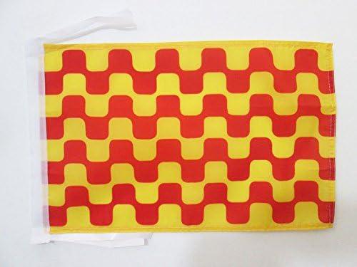 BANDERINA TARRACONENSE 30 x 45 cm cordeles AZ FLAG Bandera de TARRAGONA 45x30cm