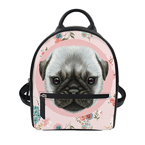 Knapsack Leather Mini HUGS Small Pattern Yorkie Shoulder Ipad Backpack Terrier Girl IDEA Pug Bag Casual PU for wqx8vrqSPg