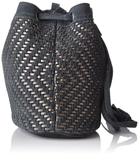 Petite Mendigote Soho, Borsa a Tracolla Donna, 10x21x12.5 cm (W x H x L) Grigio (Charcoal)