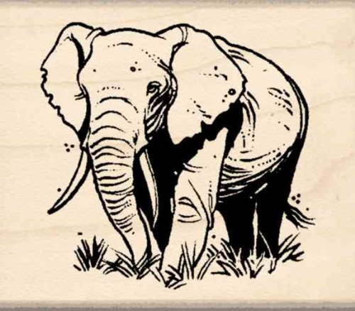 Stamps Elephant - Stamps by Impression Elephant Rubber Stamp