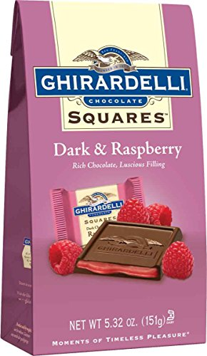 Ghirardelli Dark Chocolate with Raspberry Filling Bag, 5.32 Ounce (Pack of 12)