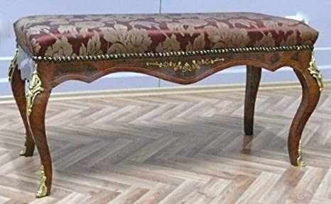 Louisxv sgabello barocco rococò stile antico mobd amazon