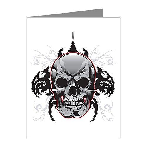 Note Card Tribal Skull