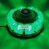 Wecade® High Intensity 10 LED 30W Volunteer Firefighter Emergency Vehicle Magnetic Mount Strobe/Flash Beacon Warning Light (Green)