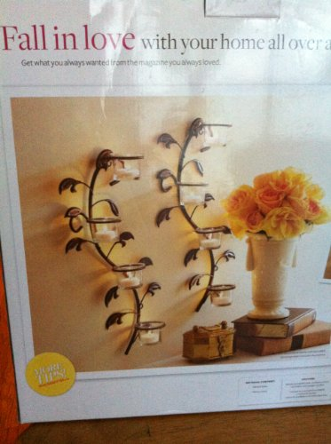 DOPO Better Homes and Gardens Vine and Leaf Tealight Wall...