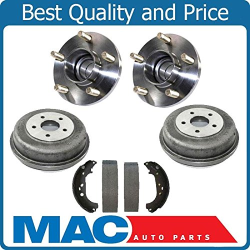 Rear Brake Drums With Hub Bearings Shoes Kit Set Fits 10-13 Fits For Ford Transit Connect