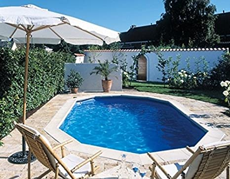 Interline Diana - Piscina (Piscina con Anillo Hinchable, Ovalada ...