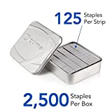 "Swingline Staples, Optima, Heavy Duty, 3/8"" Length, Jam Free, 125/Strip, 2500/Box, 1 Box"