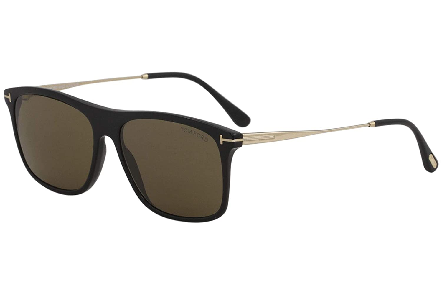 286d2a9a28905 Sunglasses Tom Ford FT 0588 Max- 02 01E shiny black   brown at Amazon Men s  Clothing store