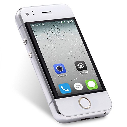 Hipipooo Unlocked Mini Cool Smartphone 2.4 inch Android Mobile Phone 5.1 Os Dual Core Cellphone (white)