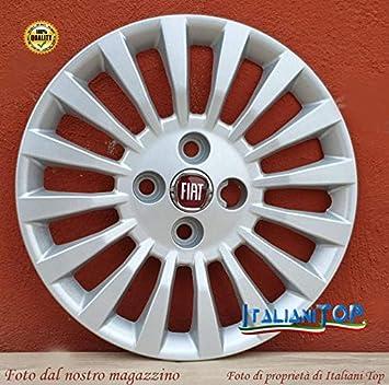 1 Logo Rosso CODICE 1264 LR Diametro 14 Generico Fiat Idea e per Fiat Punto COPRICERCHIO BORCHIA Uno